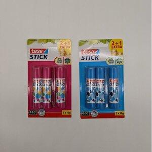 tesa 3er-Pack Klebestifte, verschiedene Farben