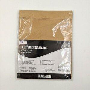 3er-Pack Luftpolsterversandtasche, Größe D, ca. 20 x 27,5 cm, 20 g, braun