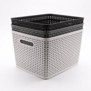 Deckelbox, Rattan, 35 x 30 x 22 cm, verschiedene Farben