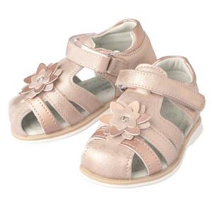 Baby Sandalen mit Blüten-Applikation