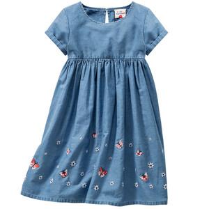 Mädchen Kleid aus leichtem Denim
