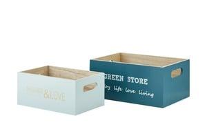 Aufbewahrungsbox, 2er-Set - türkis/petrol - MDF - Aufbewahrung > Aufbewahrungsboxen - Möbel Kraft