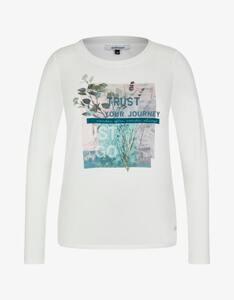 Steilmann Woman - Shirt im Material-Mix mit Statement-Druck