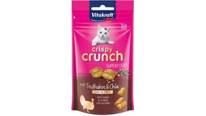 Vitakraft Katzensnack Crispy Crunch, Truthahn + Chia