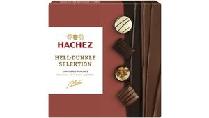 Hachez Hell-Dunkle Selektion Confiserie Pralinés