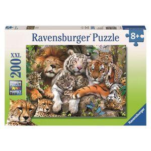 Puzzle - Schmusende Raubkatzen - 200 XXL Teile