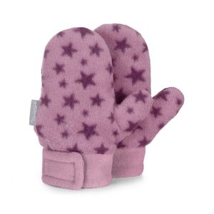 Babyfäustel - Handschuhe - Sterne - helllila - Gr. 003