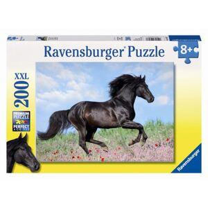 Puzzle - Schwarzer Hengst - 200 XXL Teile