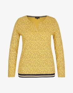 Via Cortesa - Jersey-Shirt mit Flecken-Print, Baumwoll-Viskose-Mischung