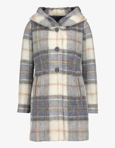 Mantel mit Karo-Muster und Kapuze