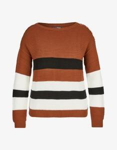 MY OWN - Strick-Pullover mit breiten Streifen