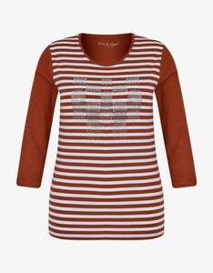 Shirt mit 3/4-Arm und Strassbesatz