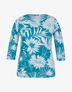 Malva - Shirt mit 3/4-Arm in Floralem Design