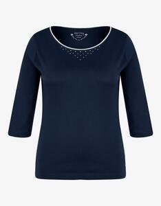 Malva - einfarbiges Shirt mit 3/4 Arm