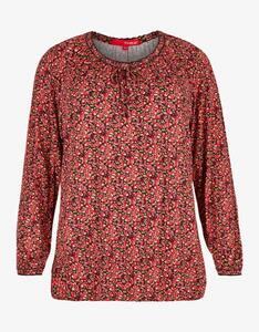 Thea - Jerseyshirt mit Blumendruck  und Gummizug