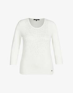 Steilmann Woman - Shirt mit Strass und Ärmeln in 3/4 Länge
