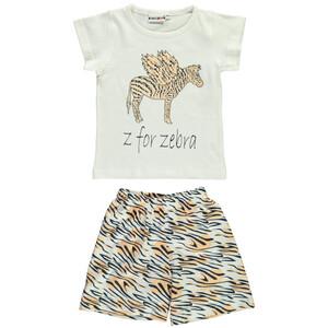 Mädchen Schlafshorty mit Zebra-Print