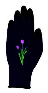 """Powertec Garden Damen Gartenhandschuhe """"Kira"""" schwarz Tulpen; Größe L"""