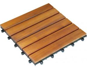 Holz-Terrassenfliese, 10-er Pack, Akazie, ca. 30 x 30 x 2,4 cm