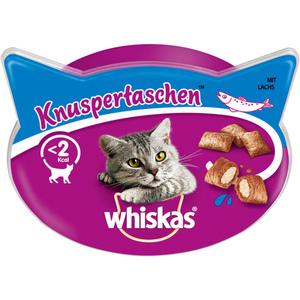 Whiskas Katzensnack Knuspertaschen mit Lachs 60 g