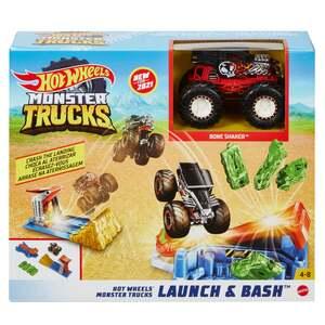 Mattel Hot Wheels Monster Trucks Startrampen-Crash