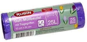 RUBIN Duft-Müllbeutel Sweet Moments mit Tragegriffen 25 l
