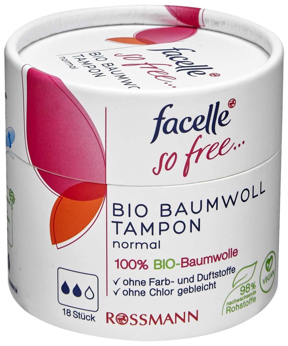 Bild 1 von facelle so free Bio Baumwoll Tampon normal