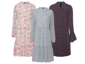 ESMARA® Kleid Damen, mit Volant