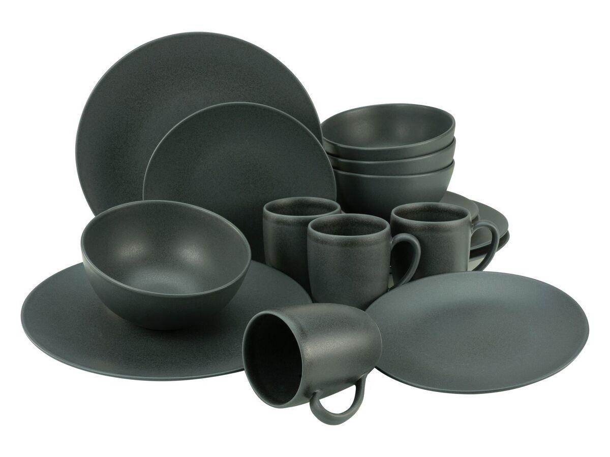 Bild 4 von Creatable Steinzeug Geschirr matt schwarz Kombiservice