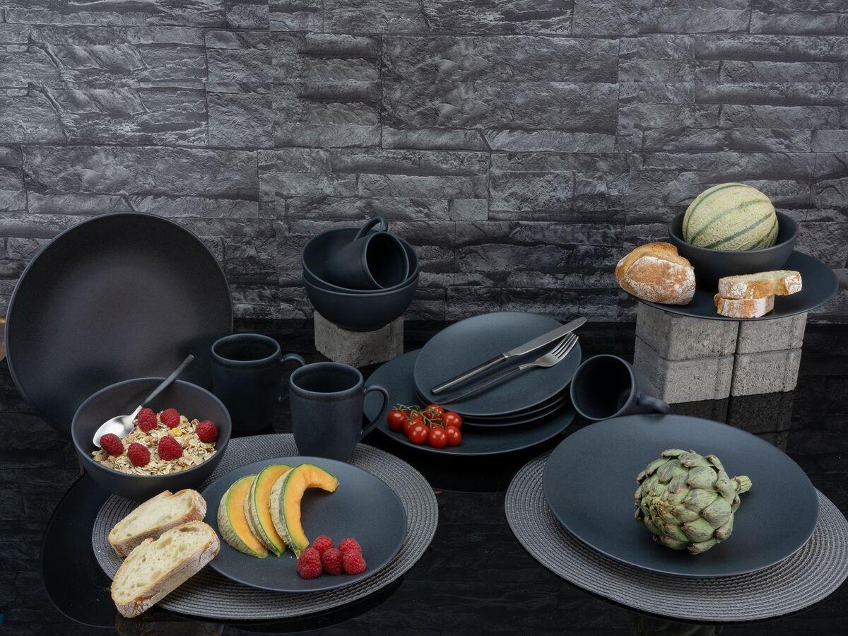 Bild 5 von Creatable Steinzeug Geschirr matt schwarz Kombiservice