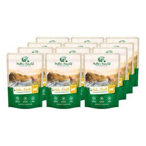 Müllers Naturhof Katzennahrung Huhn & Forelle 100 g, 12er Pack