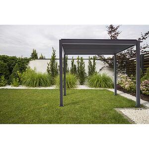 Mirador Pavillon mit verstellbaren Lamellen anthrazit 3,00 x 3,00  x 2,40 m