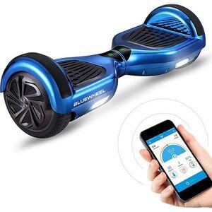 """Bluewheel Premium Hoverboard HX310s App-Steuerung 6.5""""... Blau Chrom"""