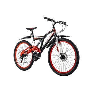 KS Cycling Fully Mountainbike Root One 26 Zoll für Herren, Größe: 46, Schwarz