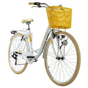 KS Cycling Cityrad 6-Gänge Cantaloupe 28 Zoll für Damen, Größe: 48, Weiß