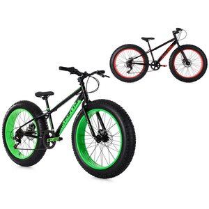 KS Cycling Mountainbike 24 Zoll Fatbike SNW2458 für Jungen, Größe: 38, Schwarz