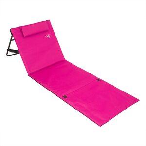 Deuba Strandmatte - gepolstert, mit Lehne und Tasche in rosa