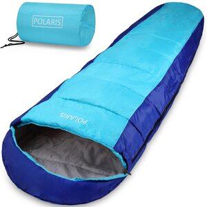 Deuba Schlafsack Mumienschlafsack Polaris 210x75cm bis -7°C 700g Blau