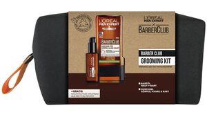 L'ORÉAL PARIS MEN EXPERT Barber Club Grooming Kit mit Bartöl und Duschgel + Gratis Washbag