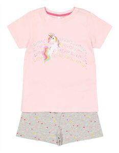 Mädchen Pyjama Set aus Shirt und Shorts