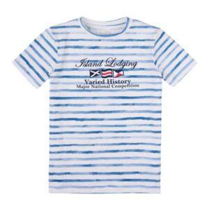 T-Shirt Stummer T-Shirts  blau Gr. 116 Jungen Kinder