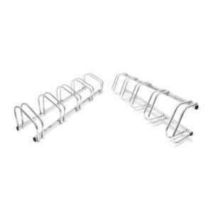 2er Set Fahrradständer Reihenparker beidseitig befahrbar Mehrfachständer Halter silber