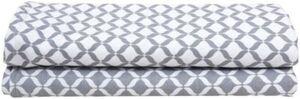 2 Stück Einschlagtücher aus Flanell-Baumwolle PREMIUM 80x120cm - Öko-Tex Standard 100 - grau classics