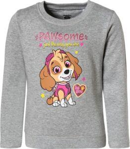 PAW Patrol Sweatshirt mit Glitzer  grau Gr. 92 Mädchen Kleinkinder