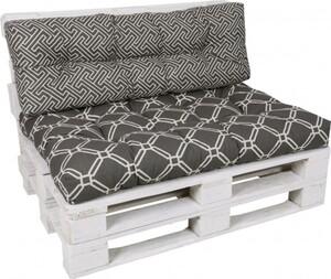 GO-DE Loungekissen-Set für Paletten ,  120 cm x 80 cm x 15 cm, grau, anthrazit