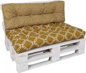 GO-DE Loungekissen-Set für Paletten 120 cm x 80 cm x 15 cm, gelb, senf