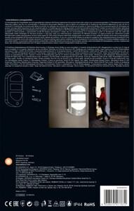 Ledvance LED Außenleuchte Endura Style Plate Außenwandleuchte mit indirektem Licht und Bewegungsmelder