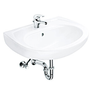 Waschtisch Combi-Set, weiß, inkl. Einhebelmischer