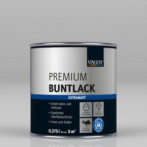 """Vincent              Premium Buntlack """"Grau metallic"""" Extramatt, 0,375 L"""