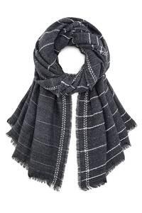 COX, Streifen-Schal in dunkelgrau, Schals, Tücher, Loops für Herren